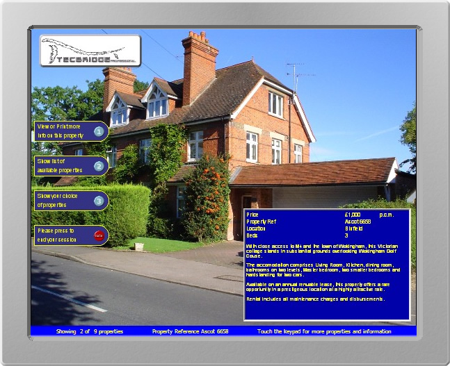 Interactive Window Display and Advertising for Estate Agents